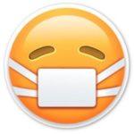 Emoji con mascarilla - Origen WhatApp