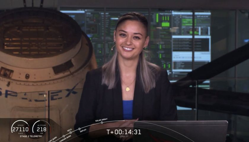 Jessica Anderson - Presentadora de SpaceX - Origen SpaceX