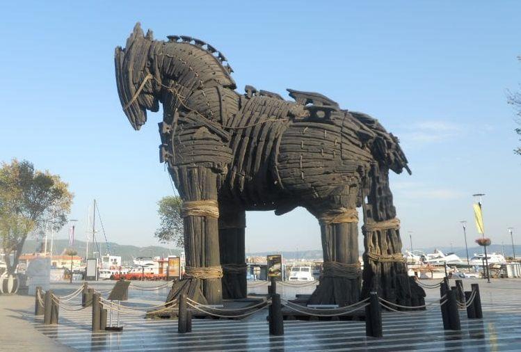 Virus - Representacion de un caballo de Troya - Origen desconocido