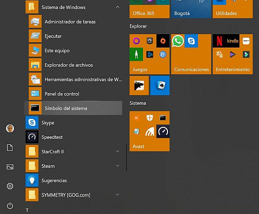 Acceder al Shell sistema - Captura de pantalla