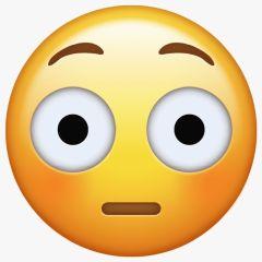 Emoji Sorpresa y verguenza - Origen WhatApp