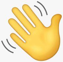 Emoji Waving Hand - Origen WhatApp