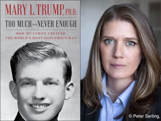 Mary Trump and her book's cover - by Peter Serling - Published in The Washington Post