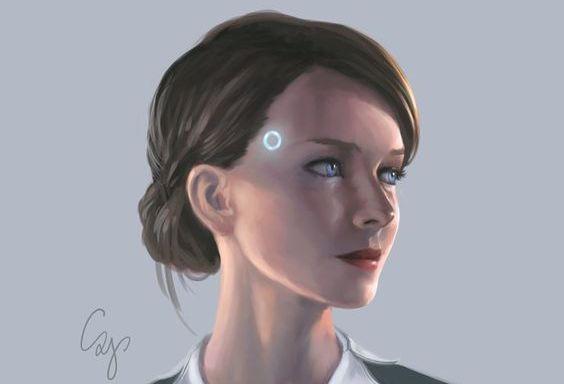 Retrato inspirado por Kara en Detroit-Become Human - Por autor desconocido (ver firma)