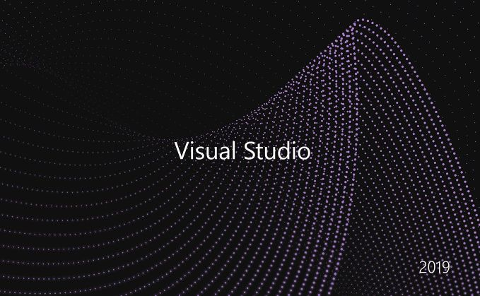 Splashscreen oficial de Microsoft Visual Studio 19