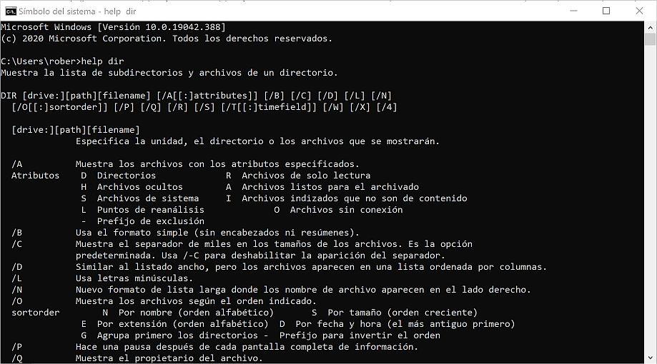 Dialogo con máquina - Uso del Shell sistema - Captura de pantalla