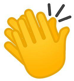 Emoji Aplausos - Origen desconocido