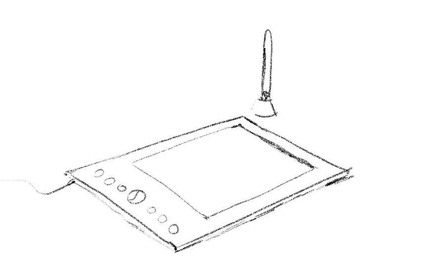 Dibujar con un computador - Bosquejo de una tableta digitalizadora - Colección TMN