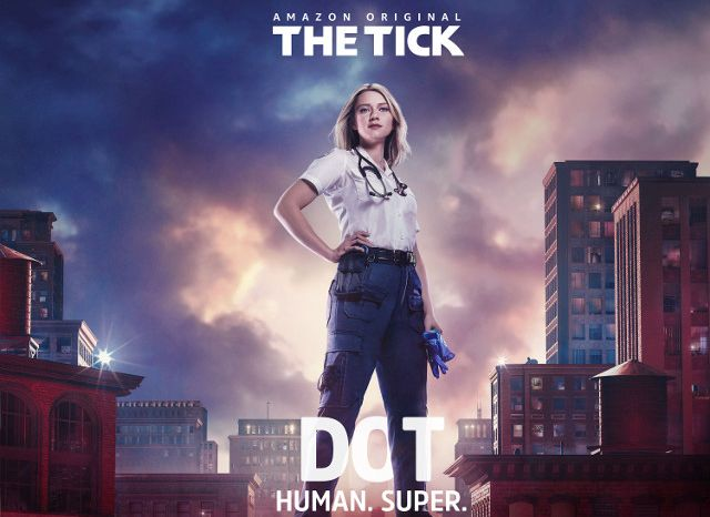 Valorie Curry - Fuera de Hollywood - Afiche de The Tick - Origen Amazon Video