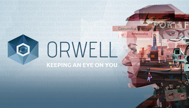 """Caratula del juego """"Orwell"""" - Origen Osmotic Studios"""