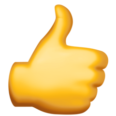 Thumbs Up Emoji - Origin Facebook