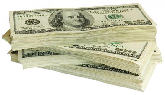 Un fajo de billetes - Origen Stock-Photo