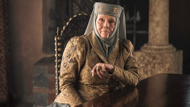 Lady Diana Rigg as Lady Olenna Tyrell in Game of Thrones - Origen HBO