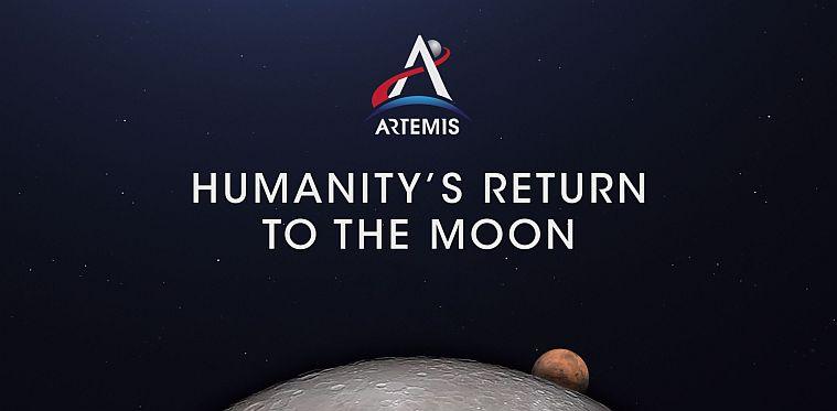 Proyectos industriales - Página NASA sobre el programa Artemis - Captura de pantalla