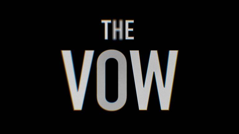 The Vow - pantalla inicial del documental sobre NXIVM - Captura de pantalla