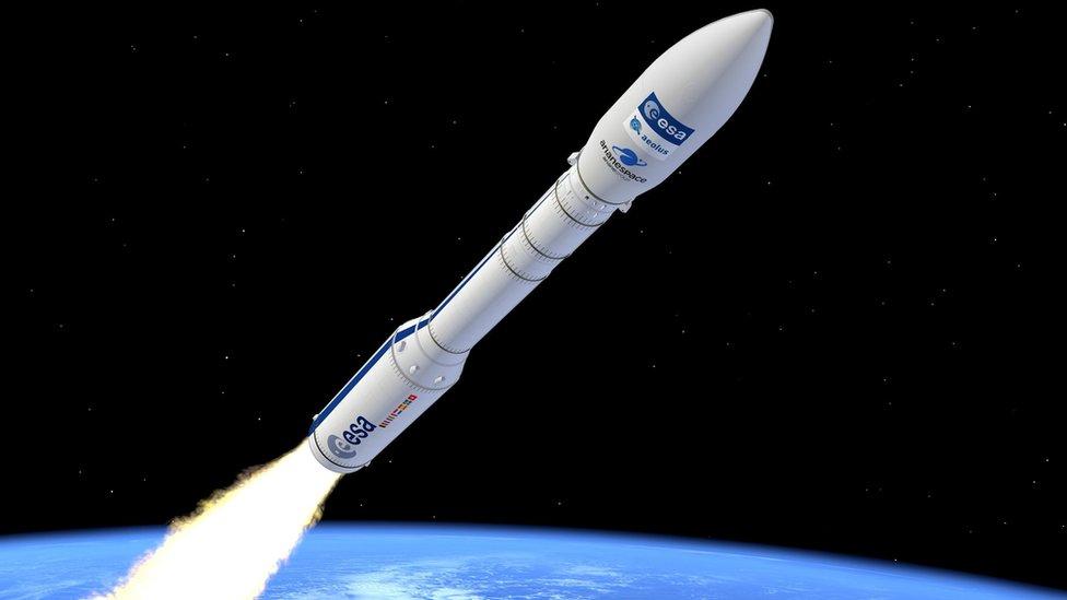 ESA - Representation artistique d'une fusée VEGA - Origine ESA