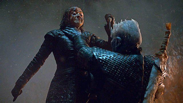 Arya enfrenta el Rey de la Noche - Game of Throne - Origen HBO / Warner