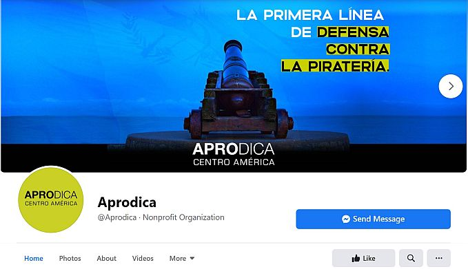Audiovisual - Captura de pantalla pagina facebook de Aprodica