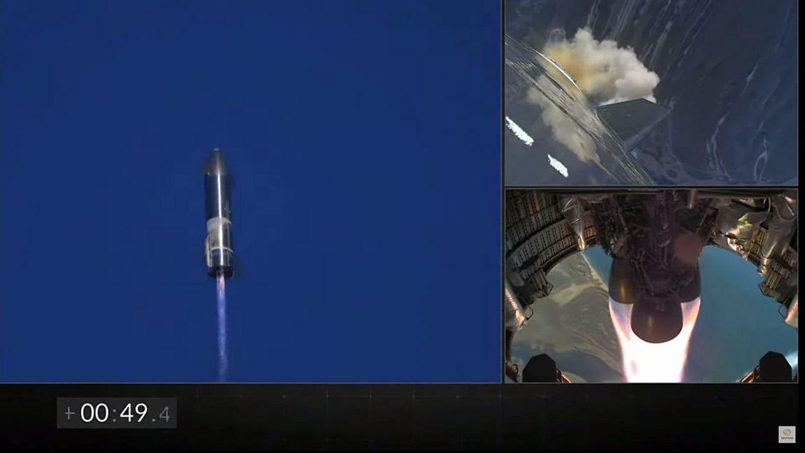 Starship subiendo - Foto Reuters