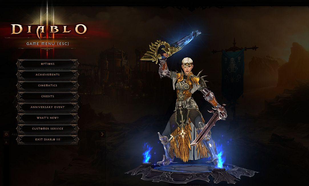 Videojuegos y gamers - Una guerrera en Diablo III - Captura de pantalla