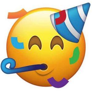 Emoji festivo - Origen desconocido (Pinterest)