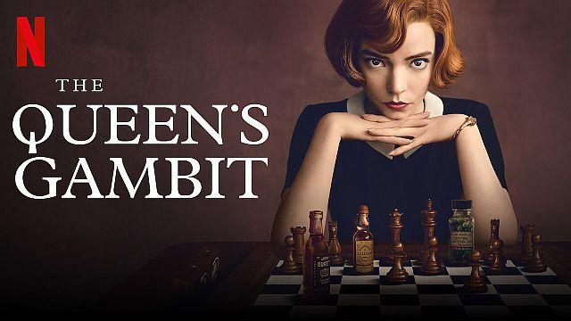 """Ajedrez - Afiche de """"The Queen's Gambit"""" - Origen Netflix"""