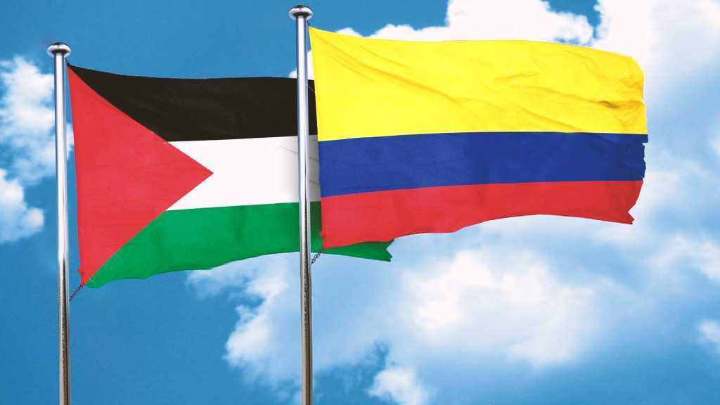 Palestine and Colombia flags - Origin AlahedNews