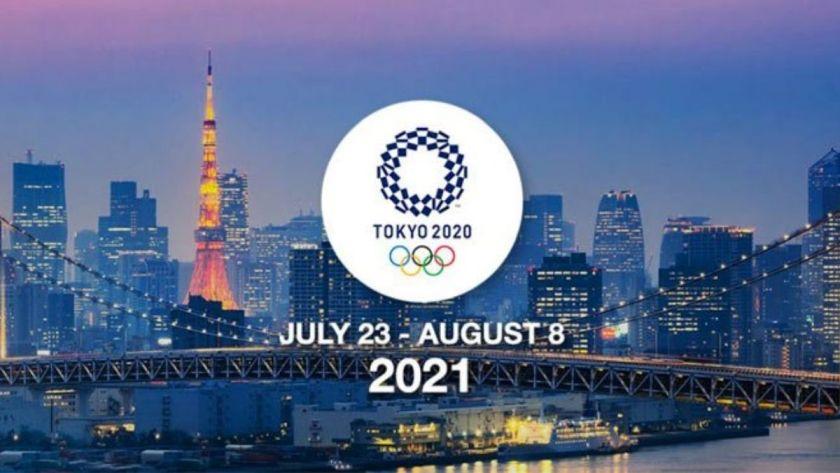 Afiche oficial de presentacion de los Juegos Olímpicos de Tokyo - Origen Comité Olímpico de Japón