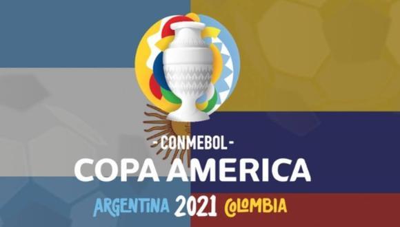 Afiche inicial de presentación de la Copa America de Futbol - Origen CONMEBOL