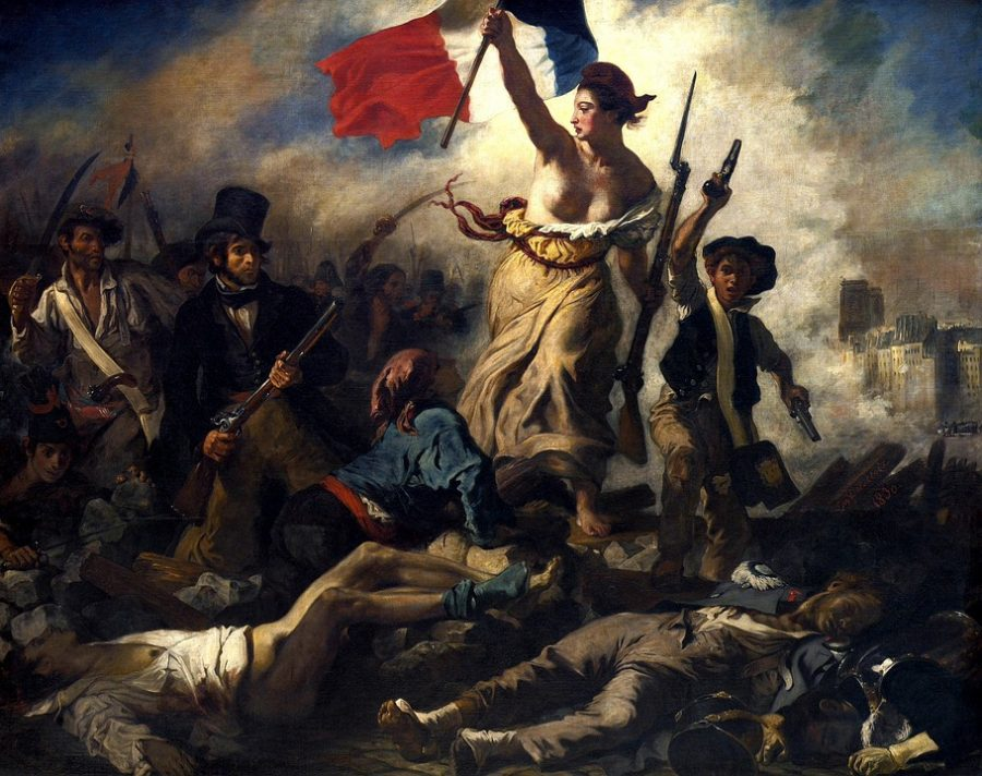 """Reproducción de la obra """"La libertad guiando al pueblo"""" de Eugène Delacroix - Origen Museo del Louvres"""