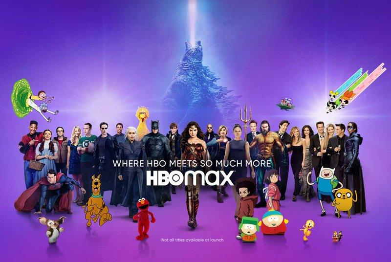 Afiche publicitario para HBO Max - Origen WarnerMedia