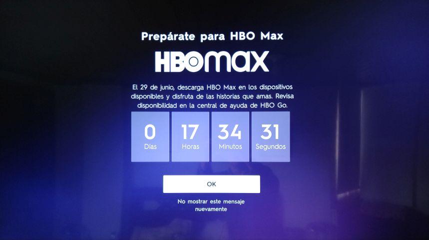 Foto del mensaje HBO Max en SmartTV - Colección TMN