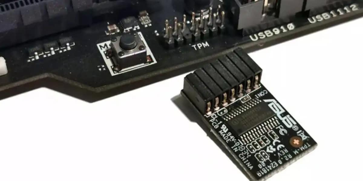 Microsoft Windows 11 - A motherboard and a TPM 2.0 module - Origin ASUS