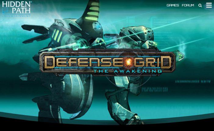 Afiche de Defense Grid - Captura de pantalla en el sitio de Hiddenpath