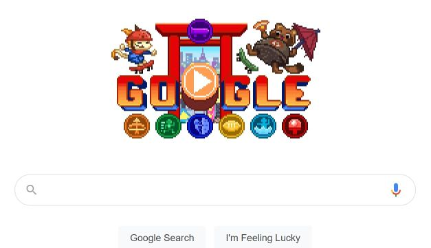 Doodle de Google sobre los Juegos Olímpicos - Captura de pantalla sitio Google.com