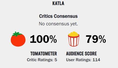 Katla según Rotten Tomatoes - Captura de pantalla