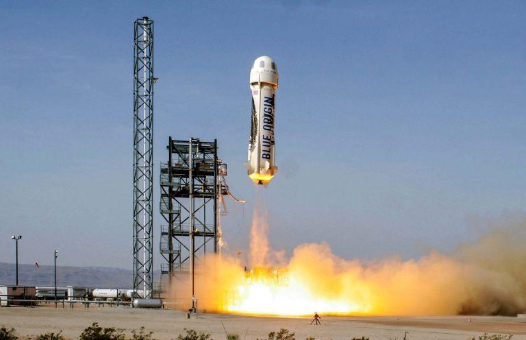 La nave New Shepard - Origen Blue Origin