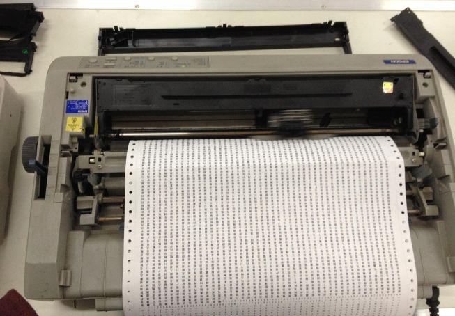 Spooler - Impresora de impactos - Origen desconocido