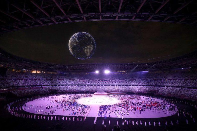 Drones en la ceremonía de apertura de los juegos olímpicos - Origen desconocido