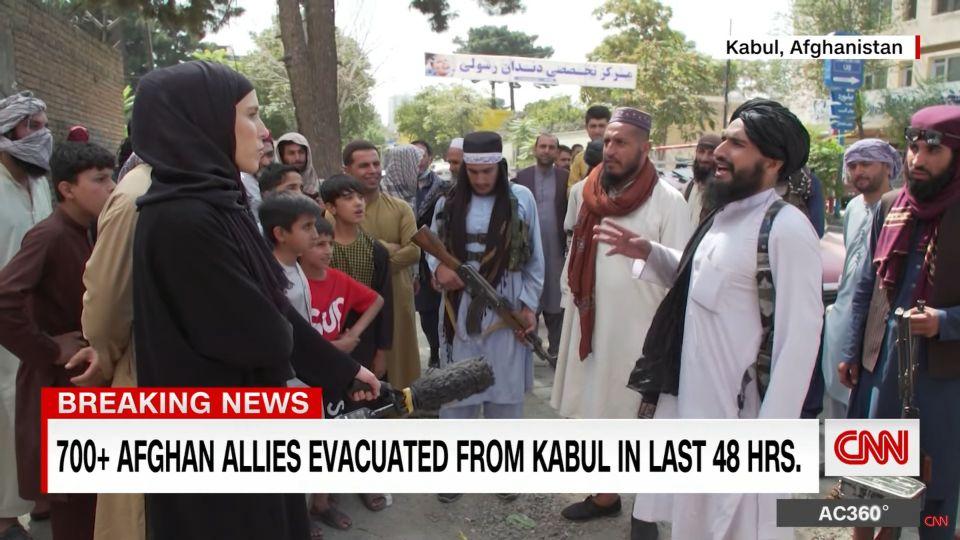Afganistán - Clarissa Ward covering Afghanistan News - Screen capture from CNN Video