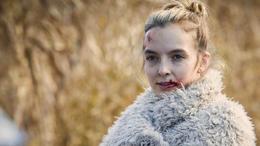 """Jodie Comer jugando Villanelle en """"Killing Eve"""" - Origen BBC"""