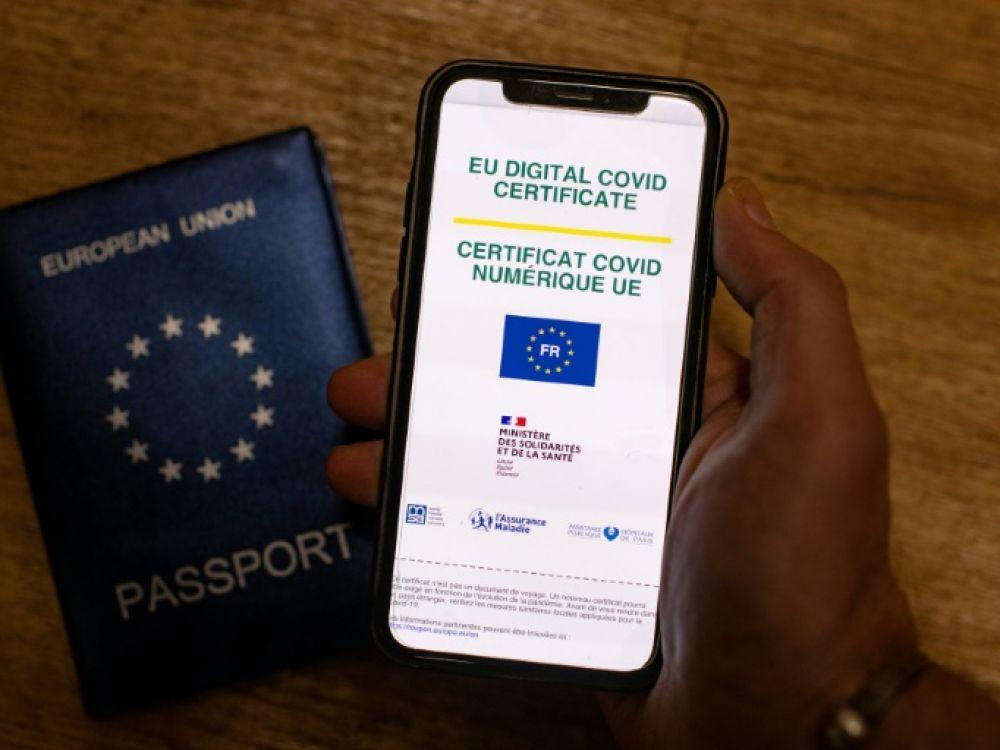 Vaccins - certificat europeen - Photo par Olivier Morin (AFP)