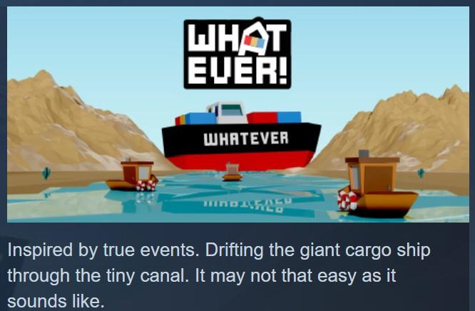 Afiche y comentario para el juego Whatever - Origen STEAM
