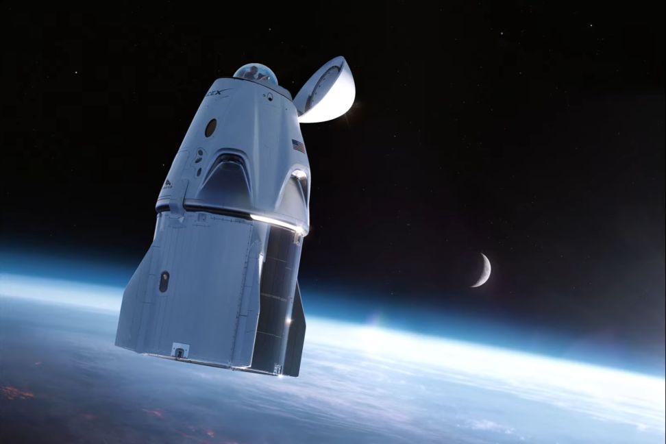 El domo de la nave Inspiration4 - Origen SpaceX