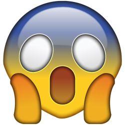 Emoji Horrorizado - Origen Apple