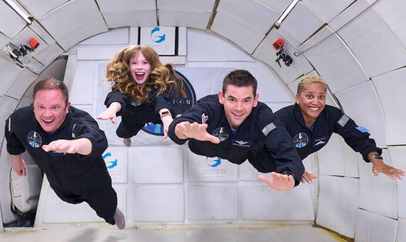 Tripulación completa de la misión Inspiration4 - Origen SpaceX