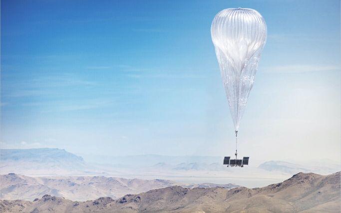 Un globo transmisor del proyecto Loon - Origen Loon/Alphabet