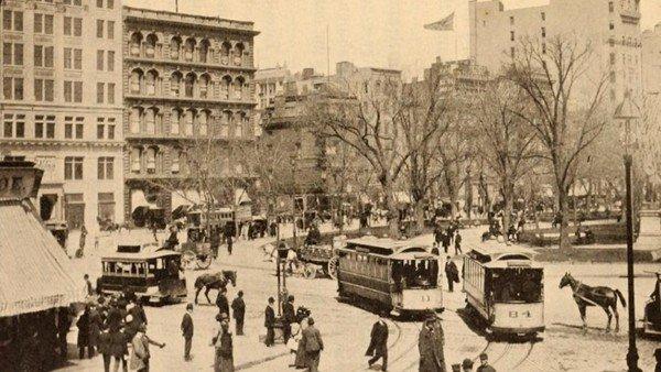 Union Square al inicio del siglo XX - Foto de archivo histórico