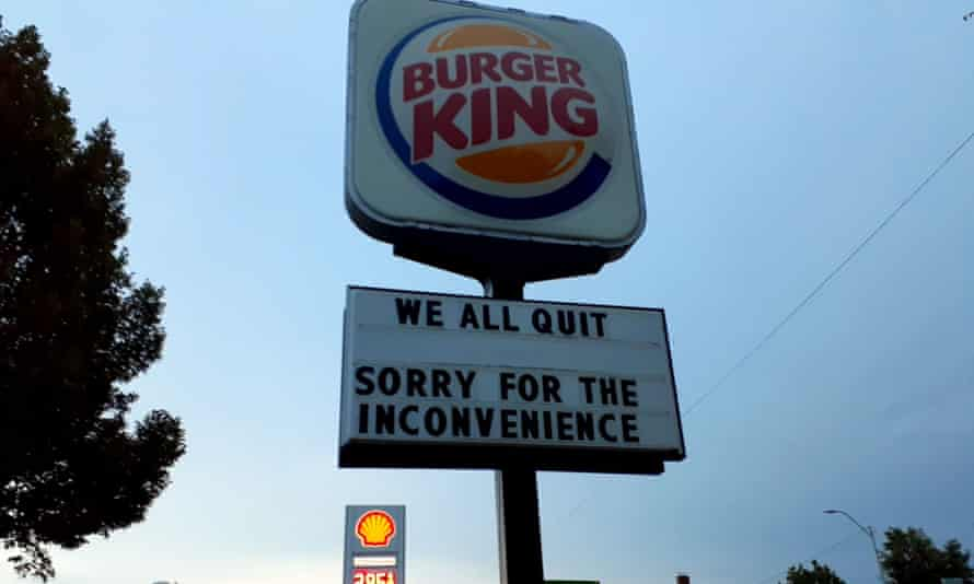 The Great Resignation – A Burger King sign in Nebraska - Photo by Rachael Flores