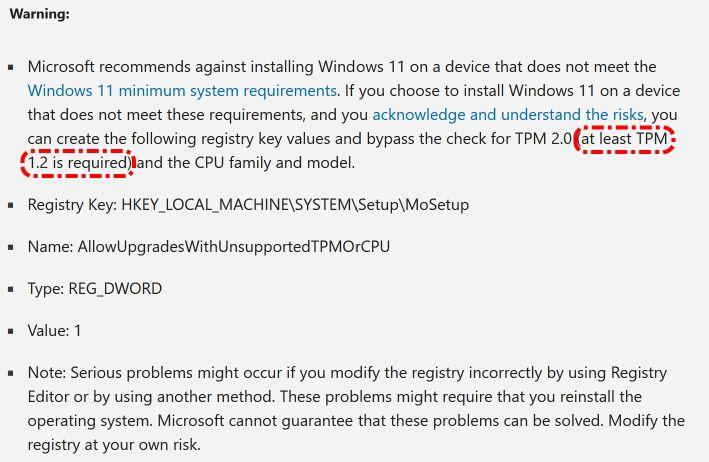 Advertencia de Microsoft sobre incompatibilidades - Captura de pantalla